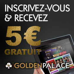 GoldenPalace Casino: Bonus sans dépôt €5 Screenshot