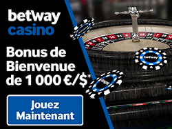 Betway casino : Jusqu'à 1000€ de bonus Screenshot