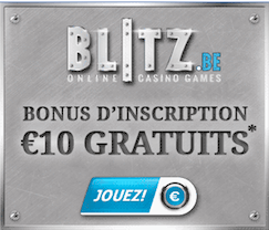Blitz Casino Bonus sans depot 10€ Screenshot