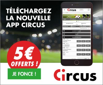 Bookmaker Circus FreeBet 110€ Screenshot