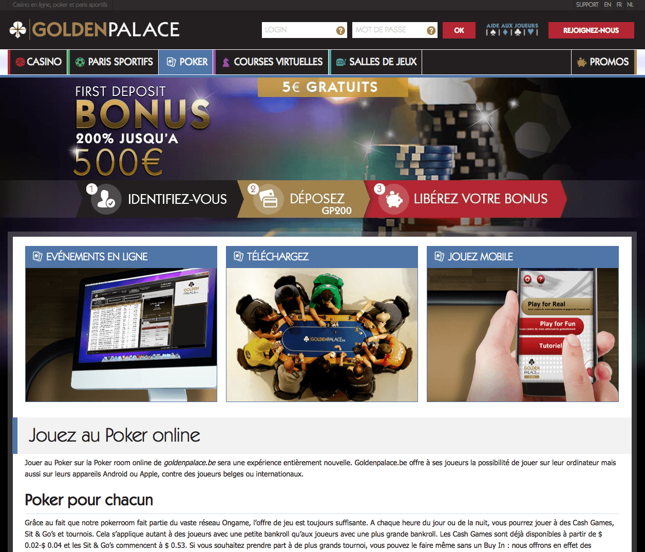 goldenpalace casino bonus