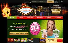 GoldenVegas Casino: Bonus sans dépôt 10€ Screenshot