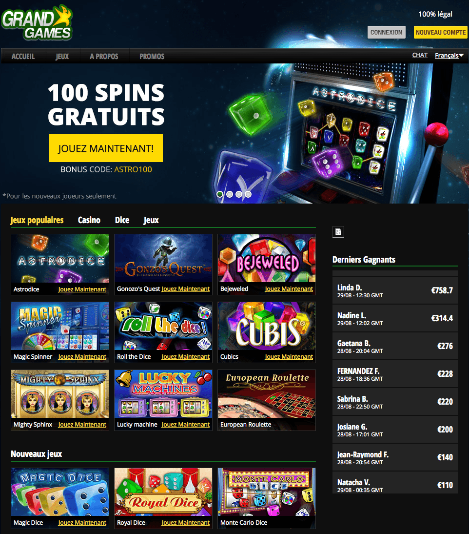 GrandGames Casino Screenshot