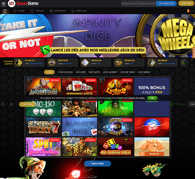SuperGame Casino Screenshot