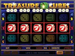 Le bonus Dice 7 Dice Slot Treasure Cubes