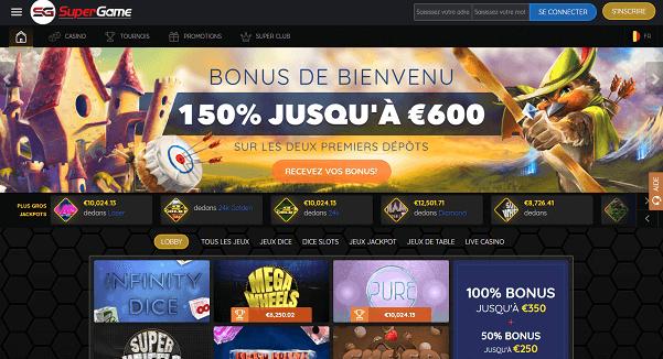 Nouveau Casino en ligne Supergame