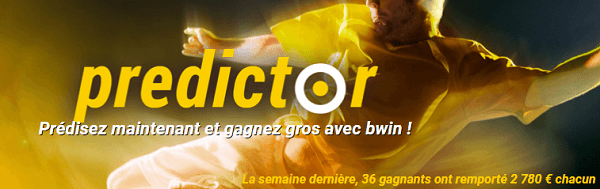 Predictor du bookmaker Bwin, 100 000€ à gagner par semaine