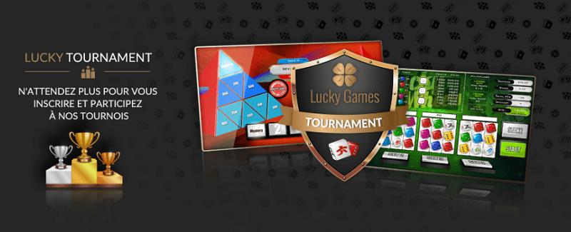 Tournois dice Luckygames casino